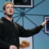 CEO do Facebook, Mark Zuckerberg, palestrando