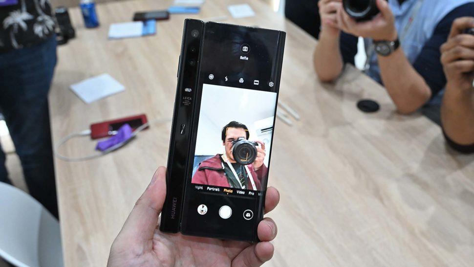 Selfie com o Mate X, da Huawei