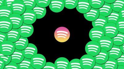 Ilustração com logo do Spotify Discover Quickly