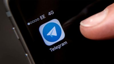 Logotipo do Telegram. Crédito: Getty Images