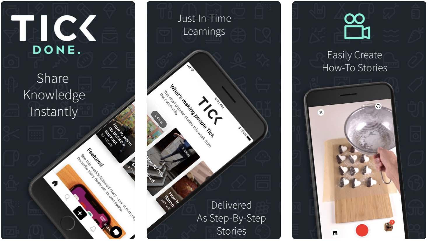 Telas do aplicativo Tick Done  - tick - Os melhores apps da semana para iPad e iPhone