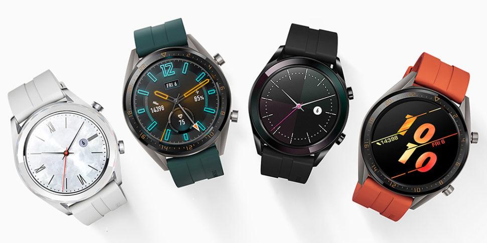 Relógios Watch GT Active e Elegant, ambos da Huawei