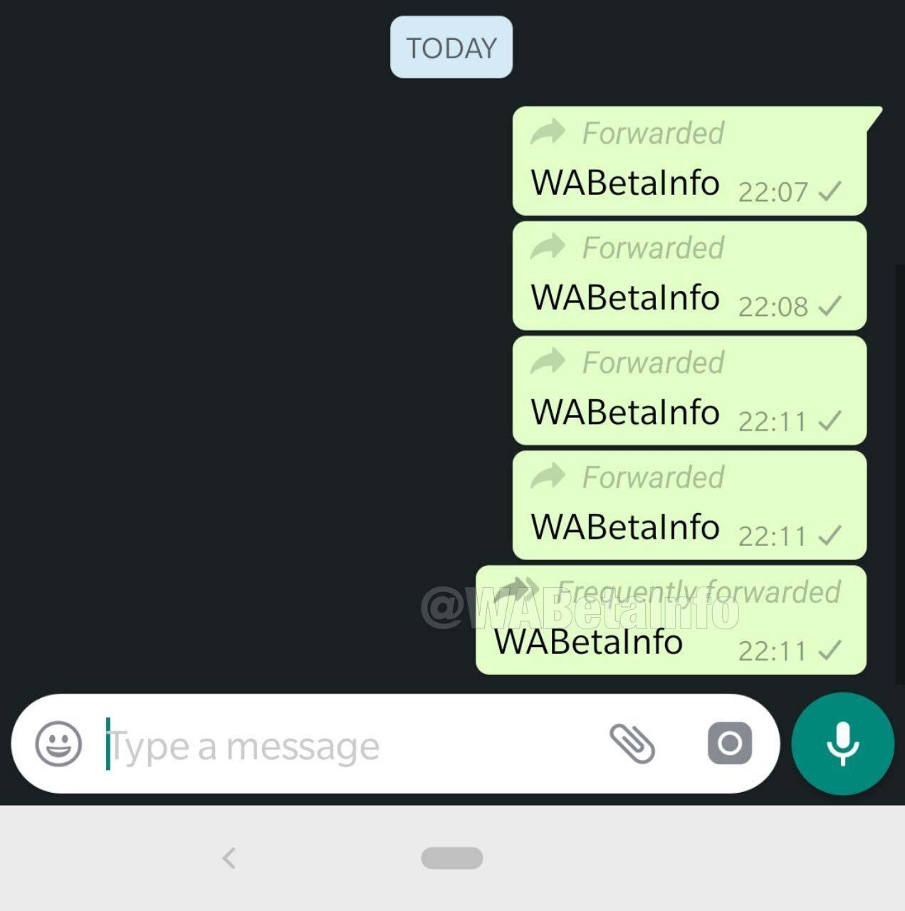 Ícone de encaminhamento de mensagem popular será diferente no WhatsApp