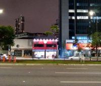 Foto noturna tirada com o Moto G7
