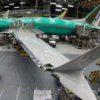Boeing 737 MAX 8 sendo montado em uma instalação da empresa em Renton, Washington, em 27 de março de 2019.