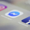 Ícones dos aplicativos Facebook, Messenger e Instagram