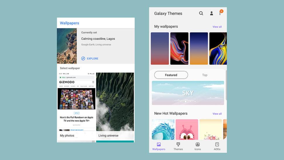 Customização no Android Puro x Samsung One UI