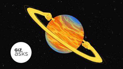 """Ilustração de um planeta """"tapando"""" os ouvidos"""