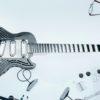 Guitarra feita pela sueca Sandvik