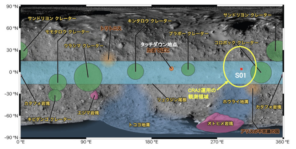 Mapa do asteroide Ryugu