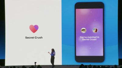 Captura de apresentação mostra recurso Secret Crush do Facebook Dating