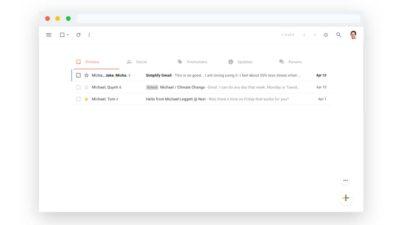 Visual do Gmail com a extensão Simplify