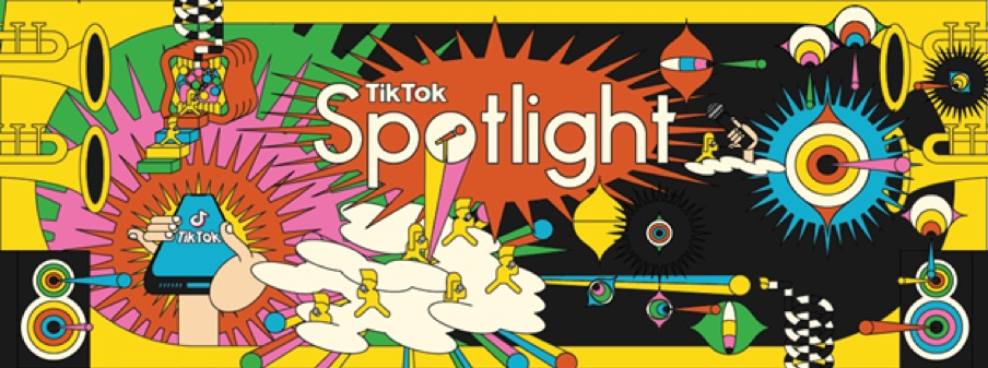 Logotipo do programa de talentos TikTok Spotlight