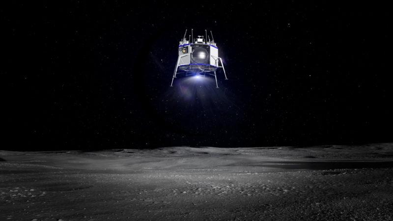 Ilustração da sonda Blue Moon