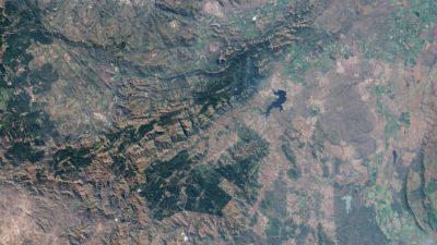 Imagem de satélite do Cinturão de Barberton Greenstone