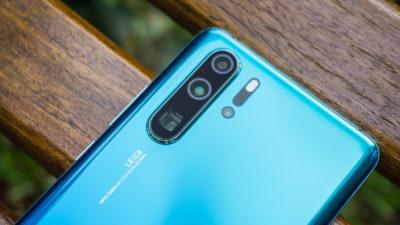 Detalhe das quatro câmeras do Huawei P30 Pro