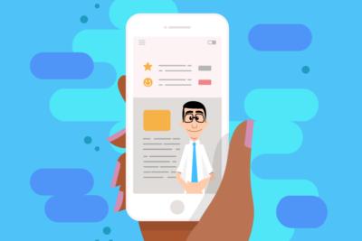 Ilustração do aplicativo Hand Talk