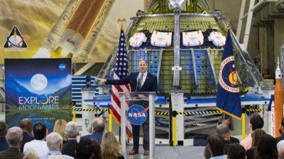 Administrador da NASA Jim Bridenstine no Centro Espacial John F. Kennedy