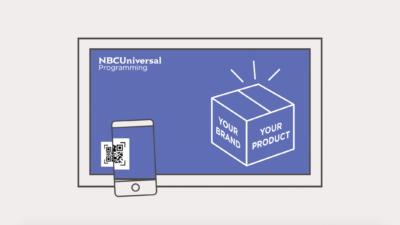 Ilustração da ShoppableTV da NBCUniversal