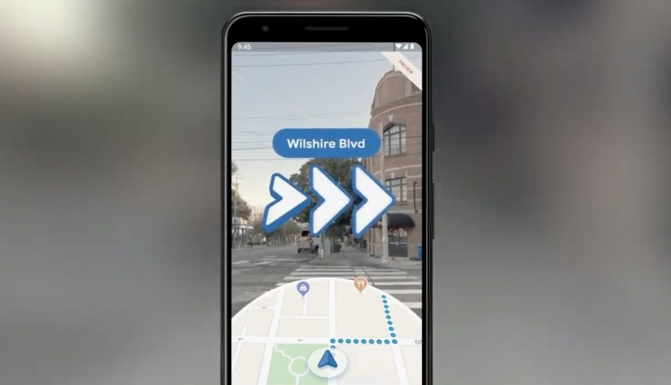 Google Maps com realidade aumentada