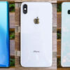 Traseira do Huawei P30 Pro ao lado do iPhone XS Max e Samsung Galaxy S10