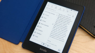 Detalhe da fonte do Kindle