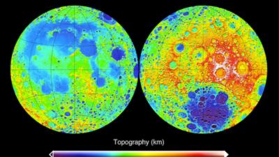 Topografia do lado distante e próximo da Lua