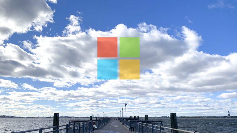 Logotipo do Windows sobre a nuvem