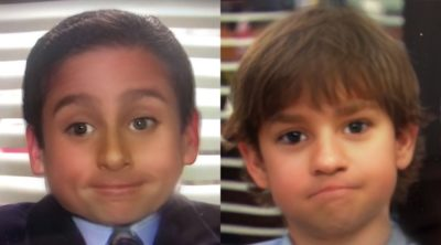 Personagens de The Office como filtro de criança do Snapchat