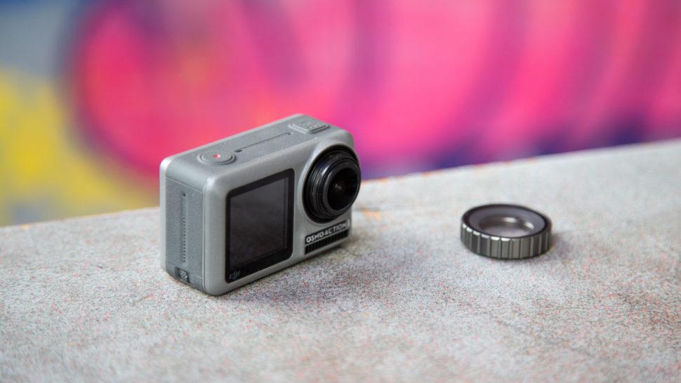 Detalhe da câmera DJI Osmo Action