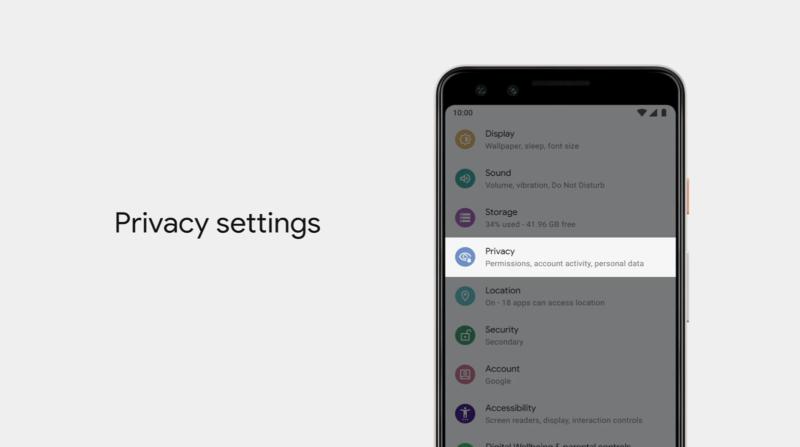 Recurso de privacidade no Android Q
