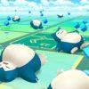 Snorlax dormindo no jogo Pokémon Go