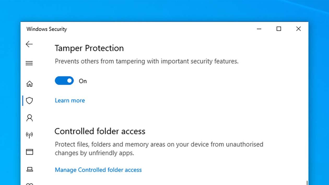 Menu de segurança do Windows 10