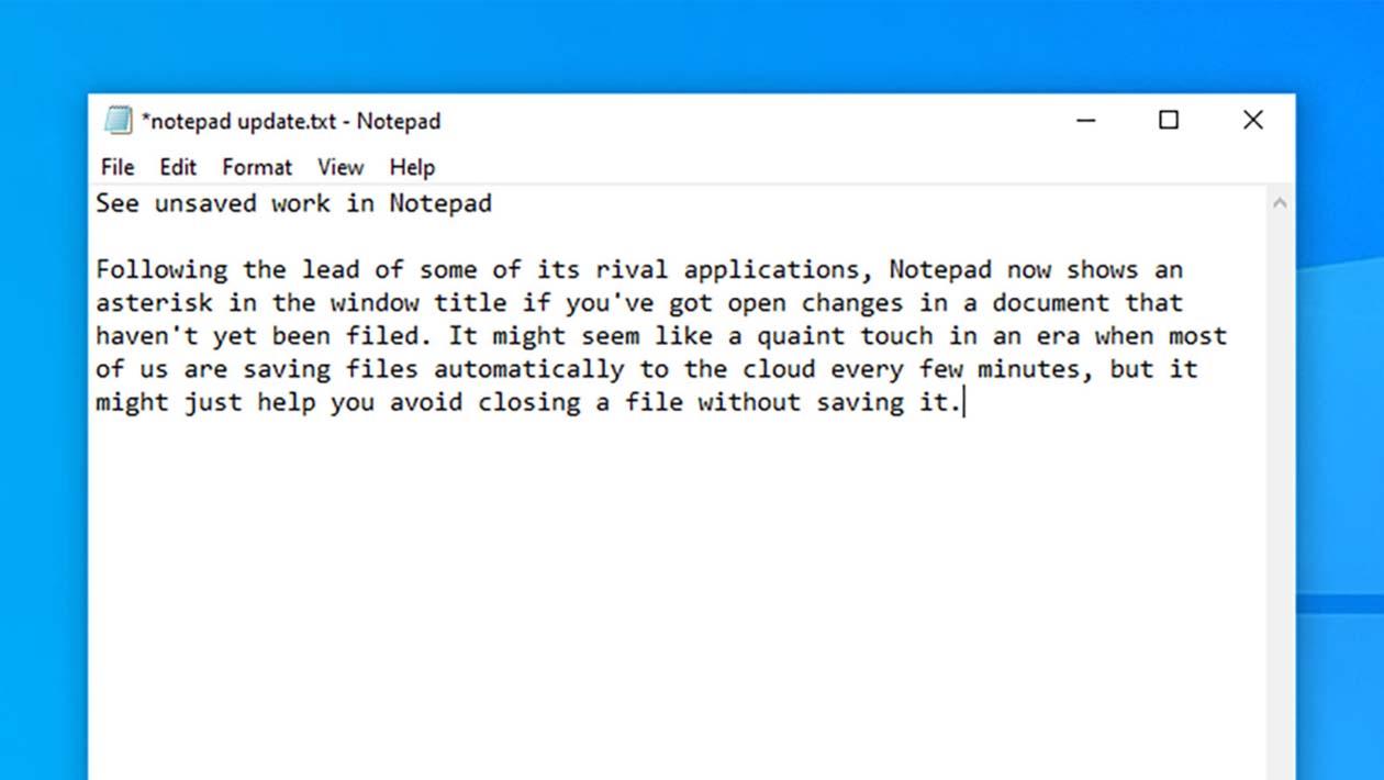 Aplicativo Notepad