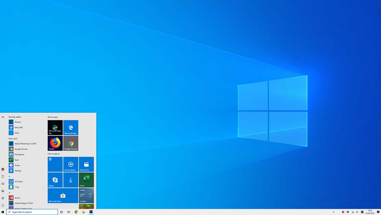 Modo Claro do Windows 10