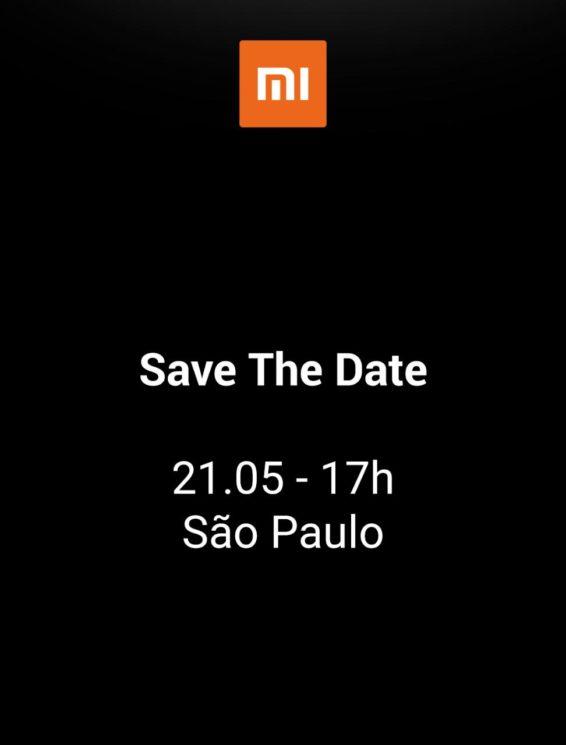 Convite da Xiaomi para evento no Brasil