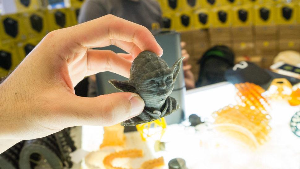 Yoda feito na impressora Ono 3D