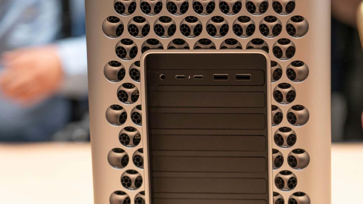 Portas da traseira do Mac Pro