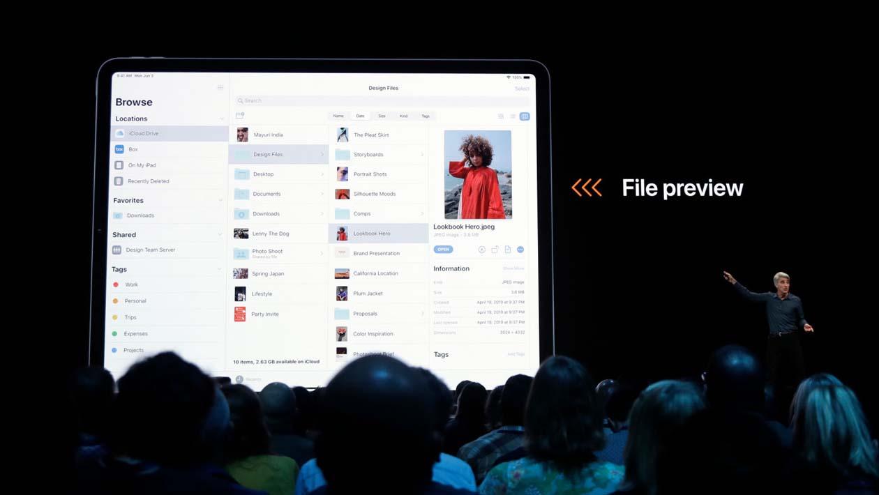 Novo sistema de arquivos do iPadOS é demonstrado