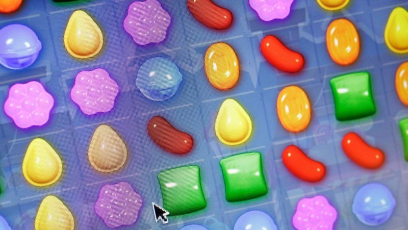 Tela do jogo Candy Crush