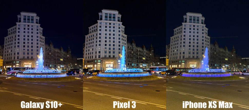 Comparativo de smartphones Galaxy S10+, Pixel 3, iPhone XS Max