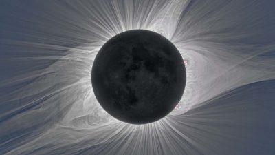 Uma imagem da coroa do Sol