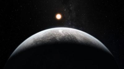 Impressão artística de um exoplaneta que se parece com a Terra