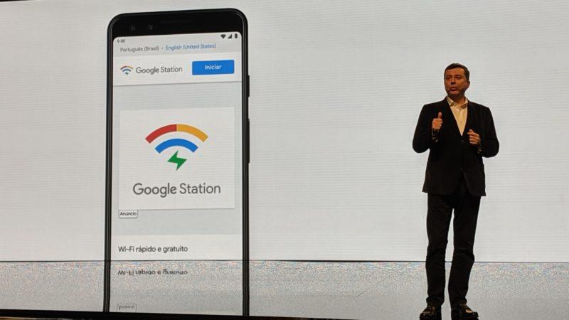 Fabio Coelho, presidente do Google Brasil, apresentando o Google Station