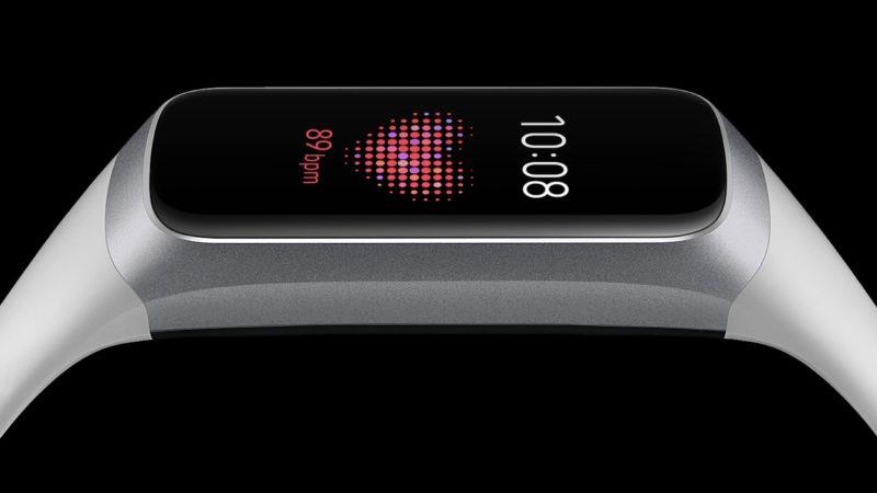 Tela da pulseira Galaxy Fit