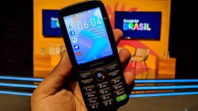 Telefone celular Positivo com KaiOS