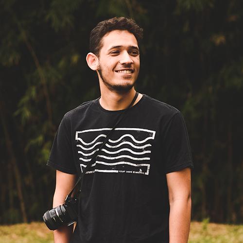 Gabriel Castilho, que ficou em 3º lugar em concurso de fotos tiradas com iPhone