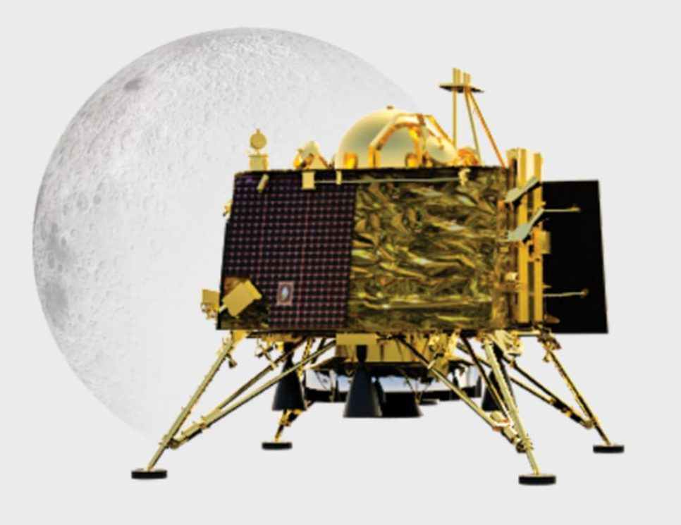 Aterrissador Vikram usado pela missão da Índia com destino à Lua