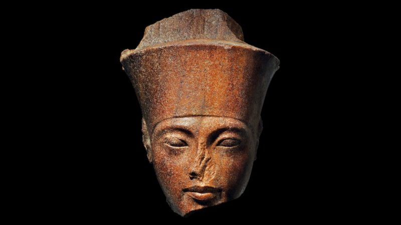 A escultura de Rei Tutancâmon