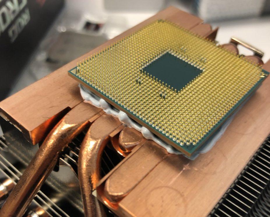 CPU conectada ao cooler da AMD
